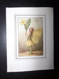 Cicely Mary Barker C1940's Vintage Flower Fairy Print. The Primrose Fairy